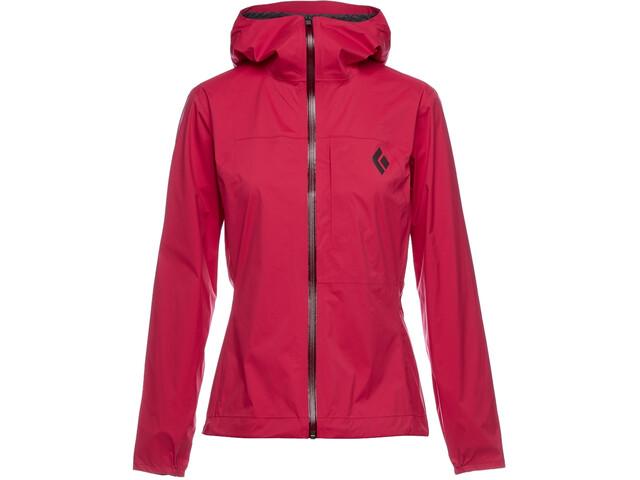 Black Diamond Fineline Stretch Rain Shell Jacket Women pomegranate